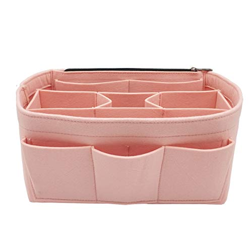LEXSION Felt Handbag Organizer,Insert purse organizer Fits Speedy Neverfull 8001 Pink S (Louis Vuitton Bags New)
