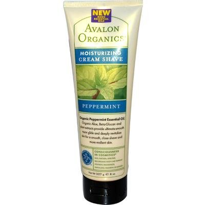 Avalon Organics Moisturizing Cream Shave, Peppermint 8 oz (Pack of 5)