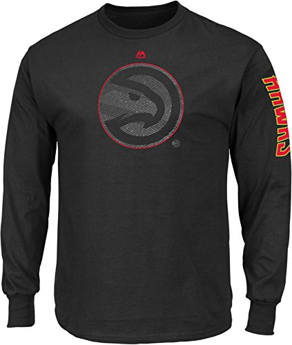 NBA Atlanta Hawks Men's Easy Choice Long Sleeve Basic Tee, XX-Large, Black