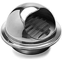 Hon&Guan Stainless Steel Round Bull Nosed External Extractor Wall Vent Outlet 6 Inch