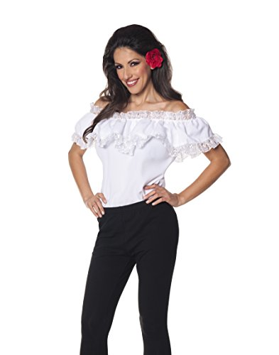 (Underwraps Women's Plus-Size Senorita Blouse, White,)