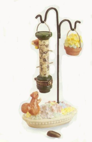 Birdfeeder & Stand Porcelain Hinged Box PHB Midwest of Cannon Falls ()