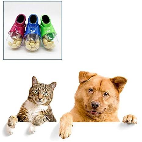 HarveyRudol85 Perros Gatos Treat Launcher alimentador Snack Food Herramienta de Entrenamiento del Animal doméstico Catapulta: Amazon.es: Productos para ...
