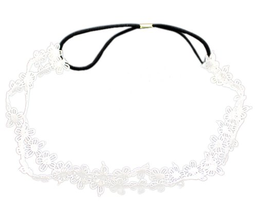 BONAMART TM Double Layer New Arrival Fashion Flowers Elastic Hair Head Hand Hoop Accessory Tie Hairbands Headbands Turban For Lady Women Girls