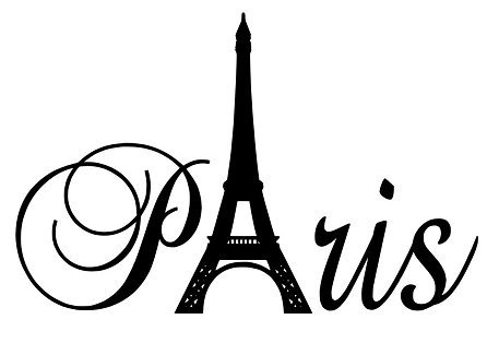 LoveDecal Paris Tower girls room wall decal home decor vinyl black