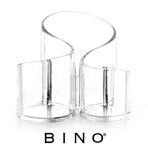 BINO 'The Swirl' 3 Compartment Acrylic Makeup and Jewelry Organizer