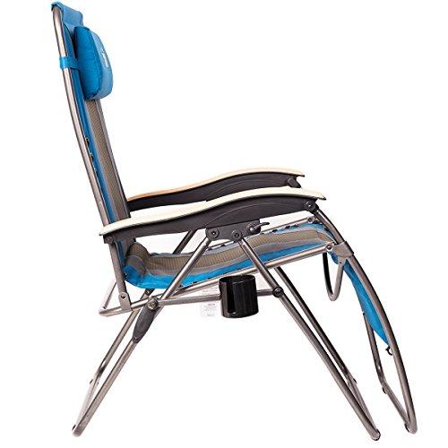 Enjoyable Timber Ridge Zero Gravity Locking Patio Outdoor Lounger Chair Oversize Xl Padded Adjustable Recliner With Headrest Support 350Lbs Creativecarmelina Interior Chair Design Creativecarmelinacom