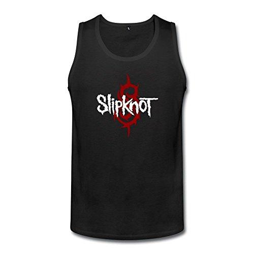 DeMai Men Cotton Slipknot Band Logo Tank Top T Shirt (Corey Taylor Slipknot Mask Sale)