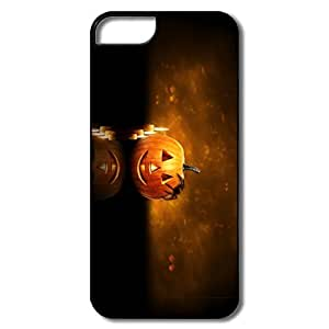 Fashion Halloween Pumpkin Candles Pc Case Cover For IPhone 5/5s wangjiang maoyi by lolosakes