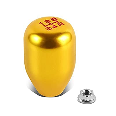 """Replacement for Civic/Del Sol/CRX/Integra Single Bend Short Throw Shifter+5-Speed Gear Knob+3.5"""" Extension Kit (Gold): Automotive"""