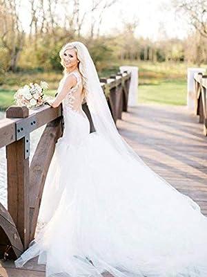 Nicute Bride Wedding Veil Long Cathedral Length Bridal Hair