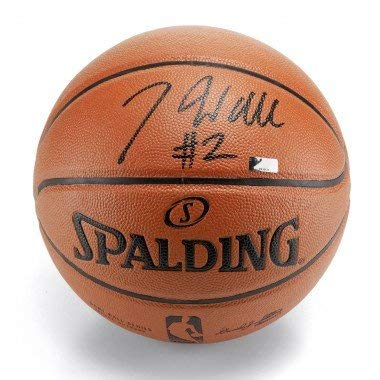 John Wall Washington Wizards Signed Autograph NBA Game Basketball Black Ink Panini Authentic Certified