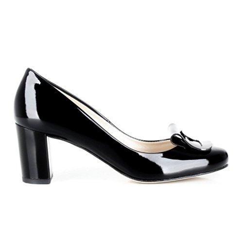 Vienna Patent Model Leather Elegant D00704 Womens Black qHUxwFg