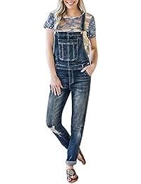 aa62e0830b2f Women Loose Denim Bib Hole Pants Overalls Jeans Demin Trousers Jumpsuit