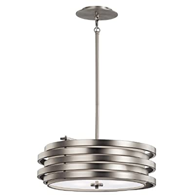 Kichler Lighting 43301NI Roswell 3 Light Pendant,Brushed Nickel