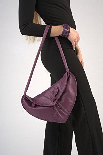 Large Soft Leather Clutch Bag with Shoulder Bag … by Ganza Design