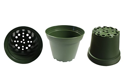 - Plastic Pots for Plants, Cuttings & Seedlings, 4-Inch, 100-Pack