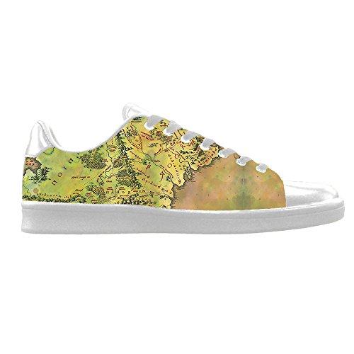 Custom Weltkarte Mens Canvas shoes Schuhe Lace-up High-top Sneakers Segeltuchschuhe Leinwand-Schuh-Turnschuhe E