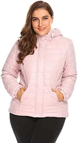 1fbddeab713 Zeagoo Women s Plus Size Waterproof Coats Outdoors Casual Lightweight Parka  Jacket with Detachable Hood