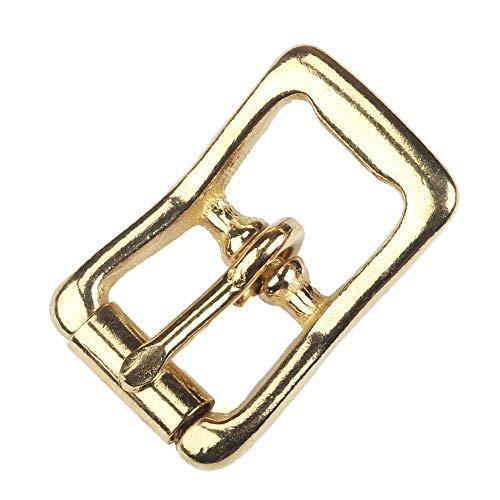 WUTA Senior Solid Brass Center Bar Roller Buckle Durable Heavy Duty Bag Straps & Belts DIY Leather Accessory,1Pack(005) (Center Bar Roller Buckles)