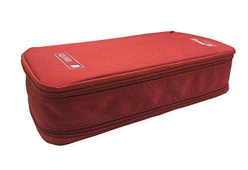 BEYLEG 96 Disc CD DVD Blu-Ray Portable Wallet Storage Organizer Holder Case Bag Album Box (96-Capacity, Red)