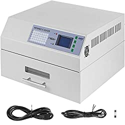 Happybuy Reflow Oven T962A+ 110V Reflow Soldering Machine 2300W 370 x 450 mm Professional Infrared Heater Soldering Machine Automatic Reflow Machine (T962A+ 110V)
