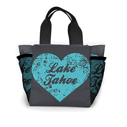 Flame Flora Lunch Bag Cooler Bag Food Insulated Bag Lunch Box Tote Bag Picnic Heat Preservation Cold Bag For Office School Picnic Outdoor I Love Lake Tahoe