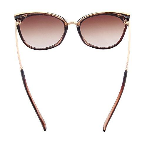 soleil Le cateye Thé miroir moderne uv400 les de mode OGOBVCK lunettes UwXOqtxxz