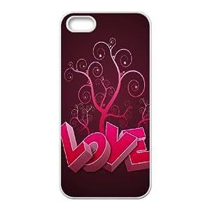 J-LV-F Diy Love Pink Selling Hard Back Case for Iphone 5 5g 5s