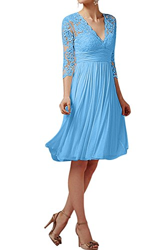 Topkleider - Vestido - Trapecio - para Mujer Azul