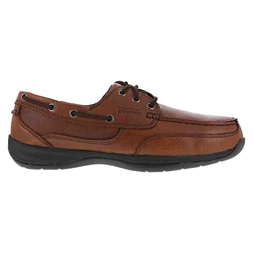 Men's Shoes BROWN Boat Steel Toe Shoes RK6745 EH Rockport 651wRqW