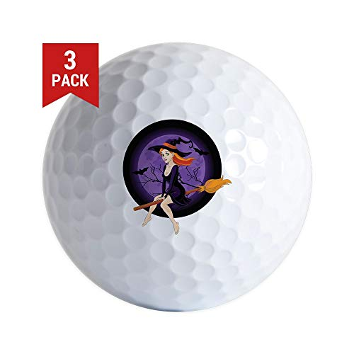 CafePress Red Headed Witch Golf Balls (3-Pack), Unique Printed Golf Balls]()