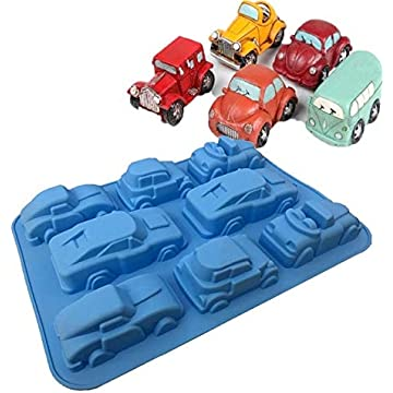 Cars Shape Silicone Silicone Mold Cake Molds Chocolate Candy Cake Decorating Tools Molds Cake Decorating Tools