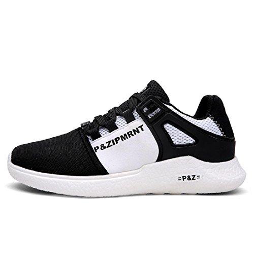 Hombres Zapatos deportivos Moda Respirable Ocio Zapatos de viaje Zapatos para correr black and white