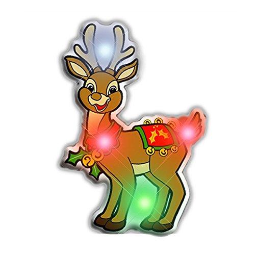 blinkee Rudolph the Reindeer Flashing Body Light Lapel Pins