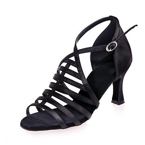 YC Personnalisable De Chaussures Femme L artificiel Salle black Cubain DéButant Sandales Danse Professionnel De Bal Cuir Latin De fdSSqErw