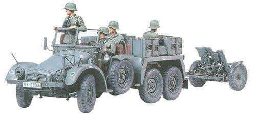 TAMIYA 300035259 - 1:35 WWII Deutsche Krupp Protze mit PAK (4), 37 mm TM35259