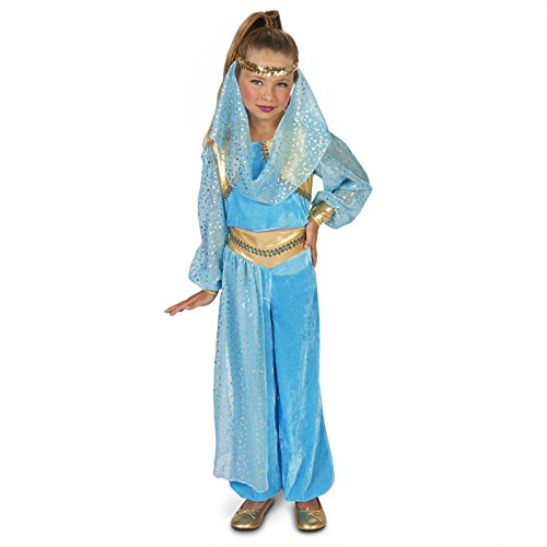 Mystic Genie Child Costume M (8-10) (Jasmine In Aladdin Costumes)