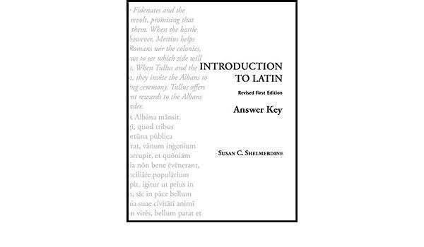 Shelmerdine Latin Answer Key Pdf