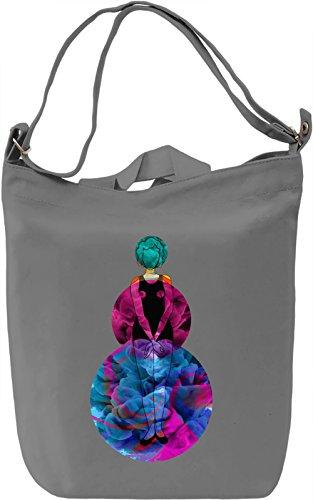 Circle Lady Borsa Giornaliera Canvas Canvas Day Bag| 100% Premium Cotton Canvas| DTG Printing|