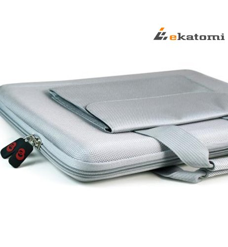 [Cube] GREY   Universal 13-inch Laptop Bag Briefcase for Samsung Series 5. Bonus Ekatomi screen cleaner