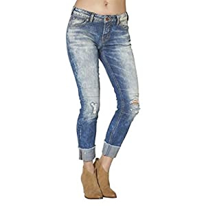 Silver Jeans Co. Women's Kenni Girlfriend Relaxed Skinny Jeans