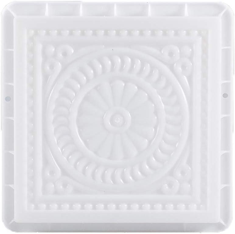 Molde cuadrado para pavimento de plástico, para pavimentos, cemento, jardín, césped, herramientas para hacer losas, pavimentos, caminos, caminos y caminos