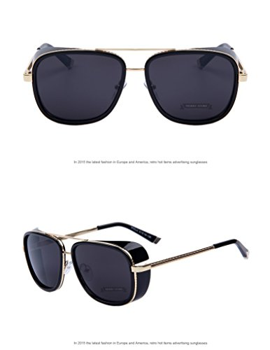 Sun glasses Men Mirrored Designer Brand Glasses Vintage Sun - Gold Sunglasses Cartier