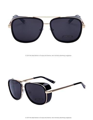 Sun glasses Men Mirrored Designer Brand Glasses Vintage Sun - Mirrored Oakley Visor