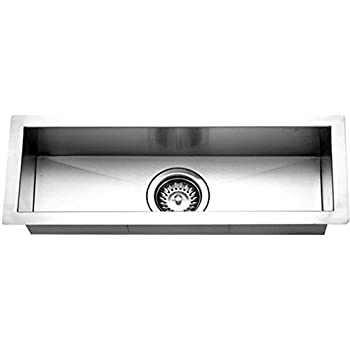 Houzer CTB 2385 Contempo Trough Series Undermount Stainless Steel Bar/Prep  Sink