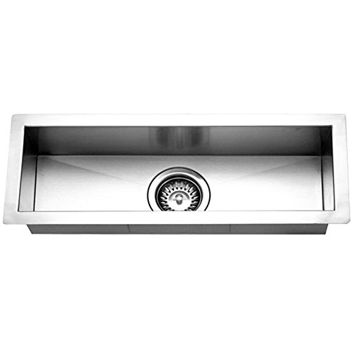- Houzer CTB-2385 Contempo Trough Series Undermount Stainless Steel Bar/Prep Sink