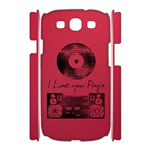 3D Old Music Samsung Galaxy S3 Case, [White]