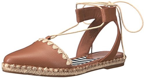 Unah Women's West Toe Leather Pointed Flat Nine Natural Dark 5z6dwz