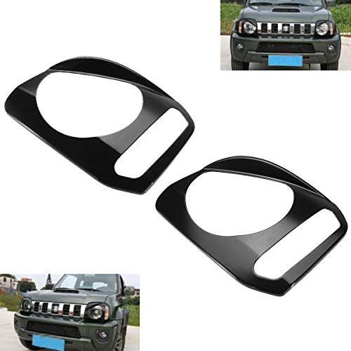 - 1Pair Car ABS Front Headlight Lamp Cover Trim Bezels Headlight Lamp Covers Trim for Suzuki Jimny 2007-2015 Black